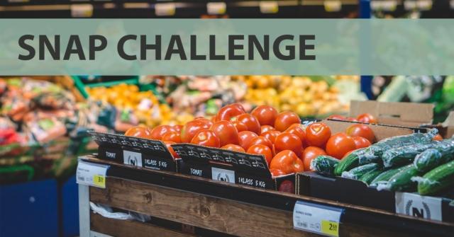 groceries. SNAP Challenge