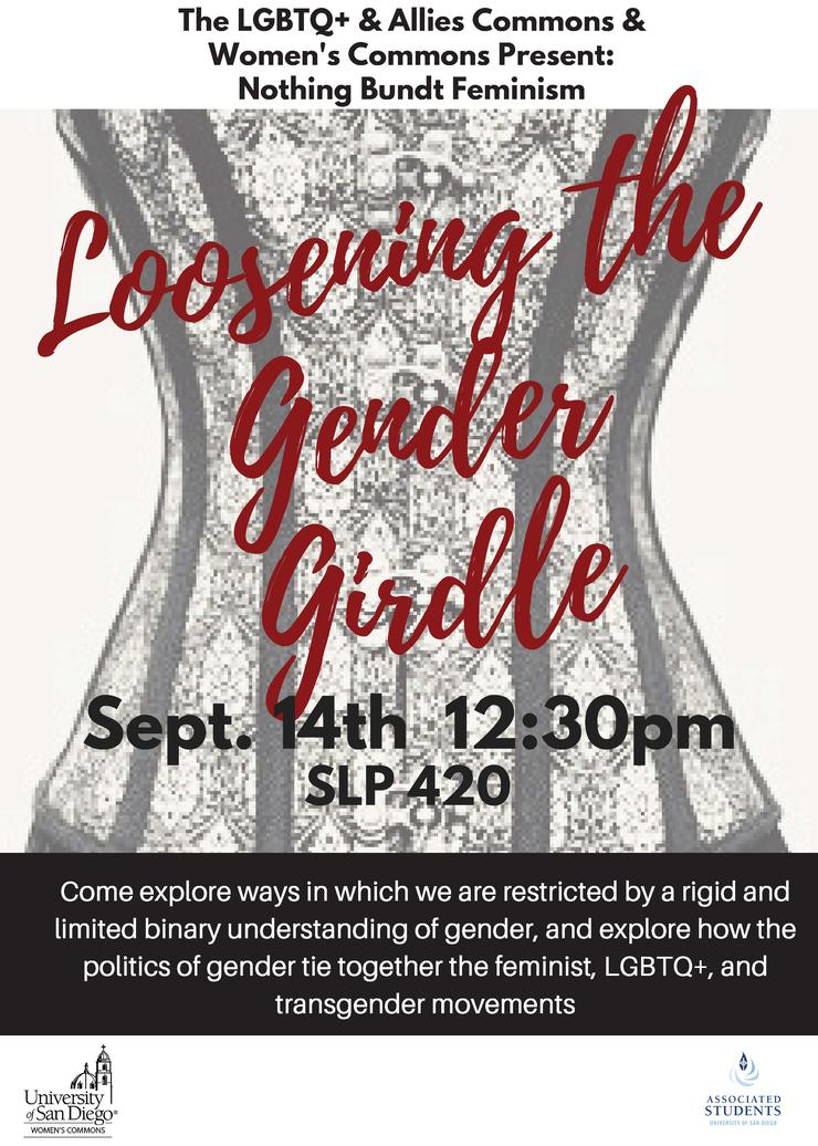 Loosening the Gender Girdle Sept 14, 12:30; SLP 420