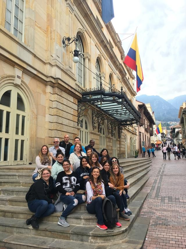 Necla's class in Candelaria district, Bogota