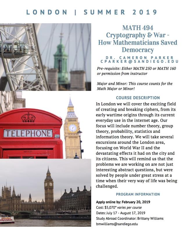 London Study Abroad Flyer