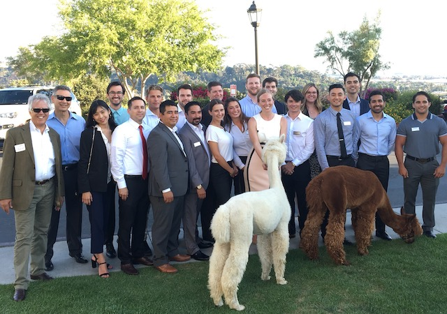 Photo of MSRE Cohort and Visiting Llamas