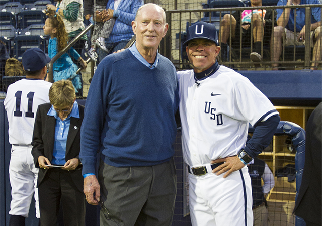 John Cunningham and Rich Hill, USD Baseball Coaches