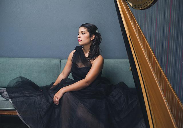 Headshot of harpist Tasha Smith Godinez