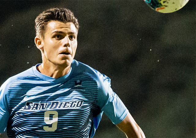 Miguel Berry, USD soccer standout