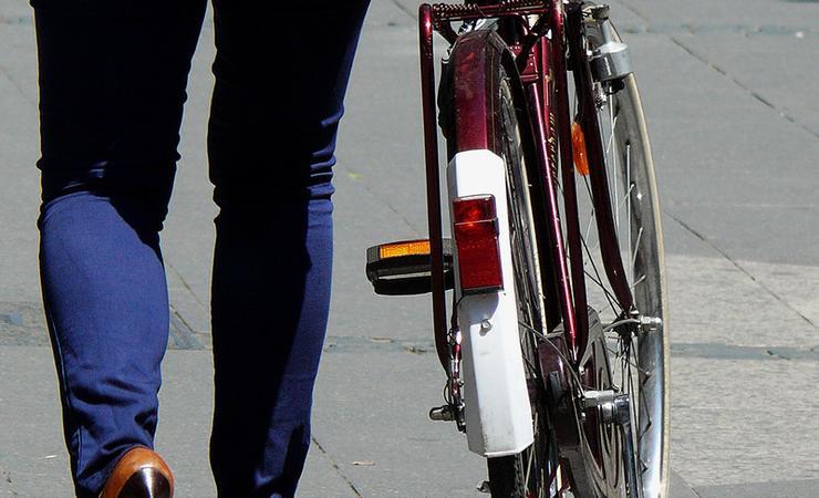 bike being pushed