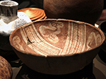 "<p>Old Chocolate and Other Surprises: Learning from the May Collection<br />This  Hohokam red-on-buff ceramic bowl has four stylized bird figures painted on the interior. It is from the Santa Cruz river area in Arizona, and was made during the Colonial period, C.E. 550-900.</p><p style=""text-align: right;""><em>Photograph by Rose Tyson.</em></p>"