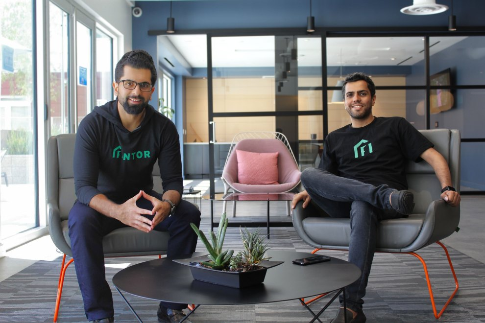 Left to right: Fintor co-founders Farshad Yousefi and Masoud Jalali / Fintor