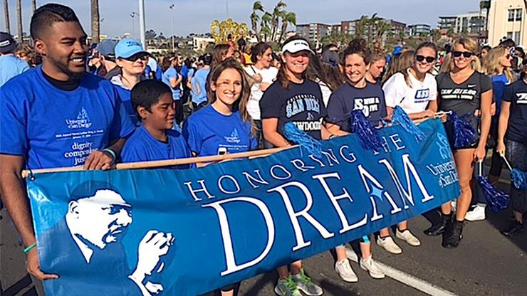 Members of the USD campus community can participate in the 37th annual Dr. Martin Luther King Jr Day Parade from 2-5 p.m. on Sunday, Jan. 15 at San Diego's Harbor Drive/Embarcadero area.