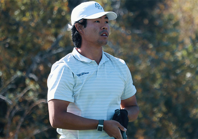 San Diego men's golf redshirt sophomore Remington Hirano