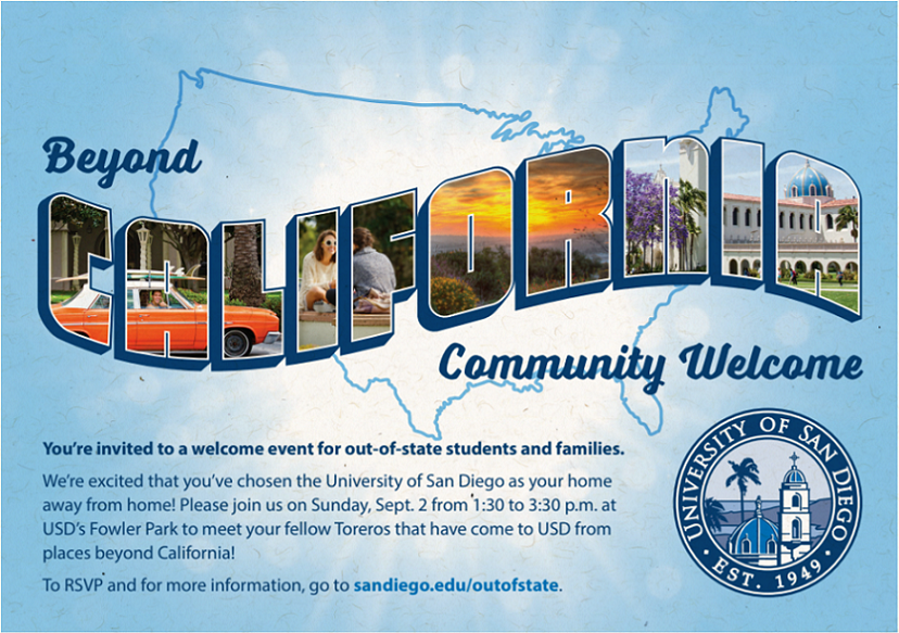 Beyond California Community Welcome flier