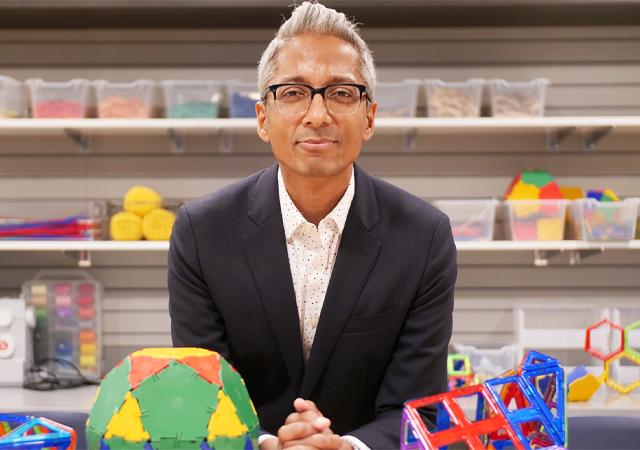 Photo of Satyan Devadoss, professor of mathematics