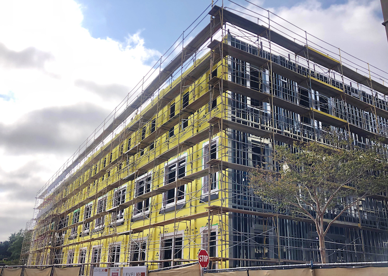 Framing and insulation installed in USD's Knauss Center for Business Education
