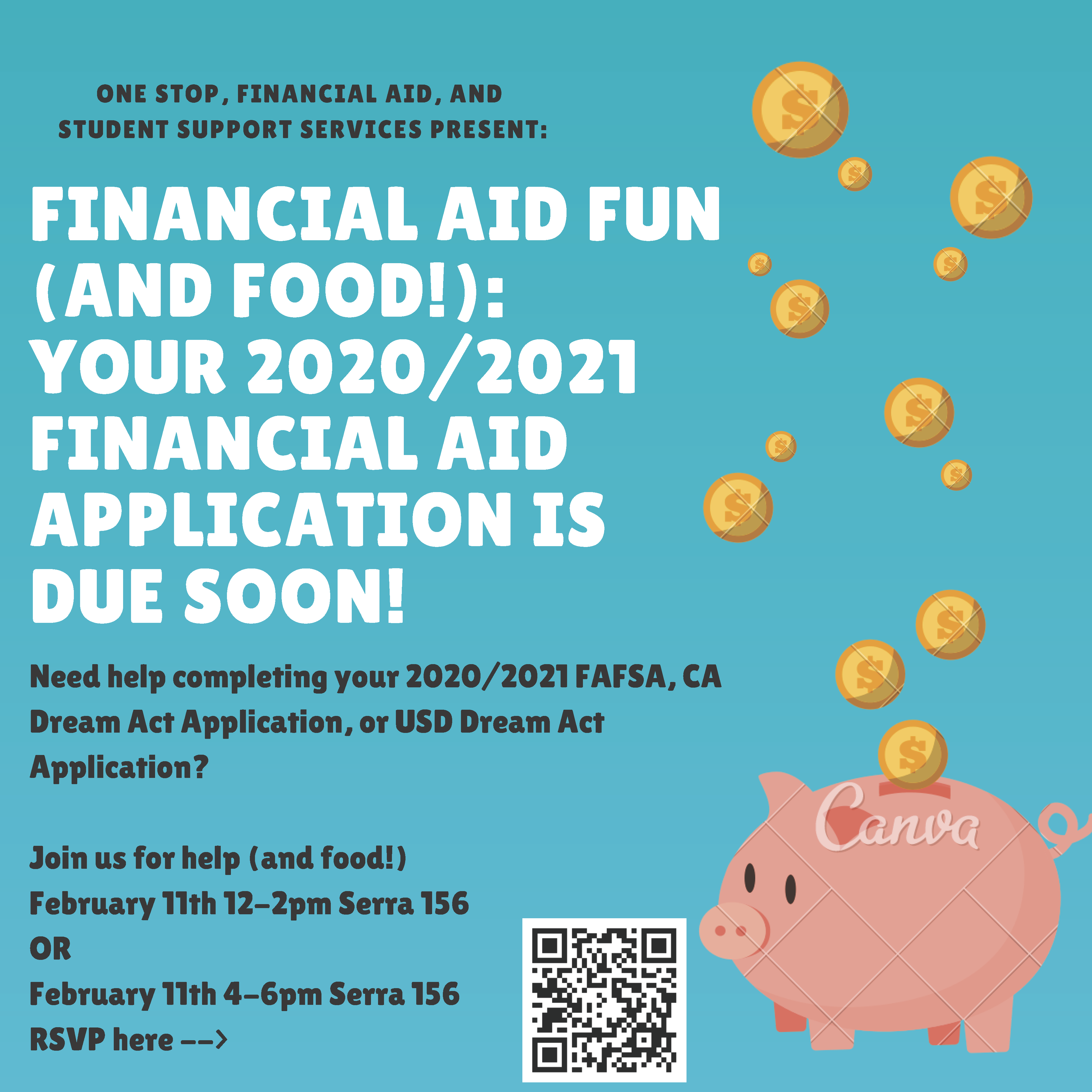 Financial Aid Fun (and Food!): Your 2020/2021 Financial Aid Application is due soon!