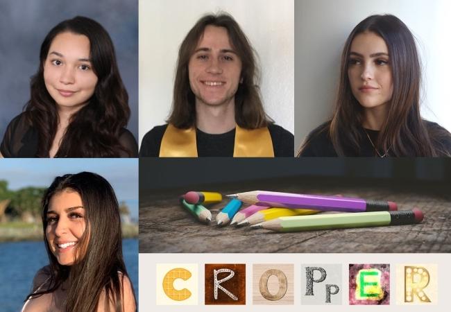 Cropper, composite photo of Miriam Castañon, Thomas Dolan, Fernanda Legarrata-Rodgriguez, and Kristen Jensen