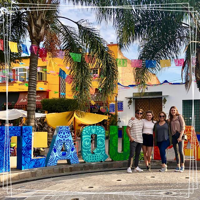 USD Student International Business Council Student Members Exploring the Town of Tlaquepaque, Mexico