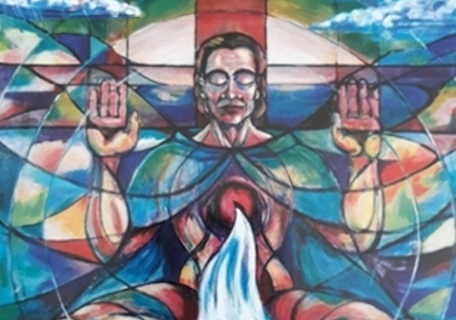 An image of Christ by Sr. Annett Hanrahan, RSCJ