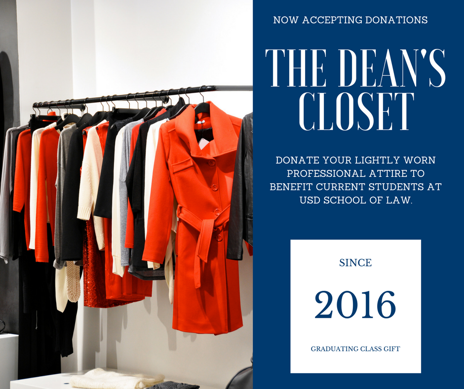 The Dean's Closet: Now Accepting Donations!