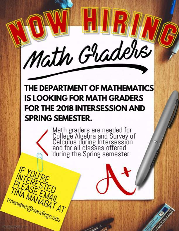 Now Hiring Math Graders