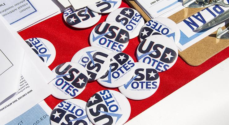 The national midterm election is Tuesday, Nov. 6. USD Votes is a committee that seeks to raise civic awareness and help people register to vote. Attend various on-campus events and get informed!
