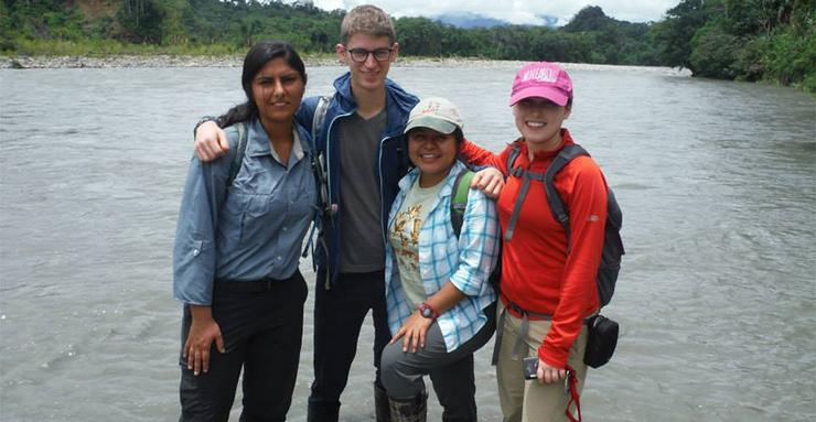 Rani Kumar, far left, is one of many Torero alumni who are participating in the Peace Corps. USD is ranked among the Top 20 for Peace Corps participation.