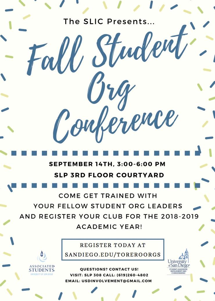 FallStudent Org Conference