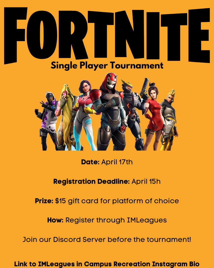 Fortnite Tournament Flyer