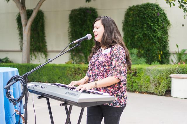 Nancy Cordova '16 performs during International Day of Peace
