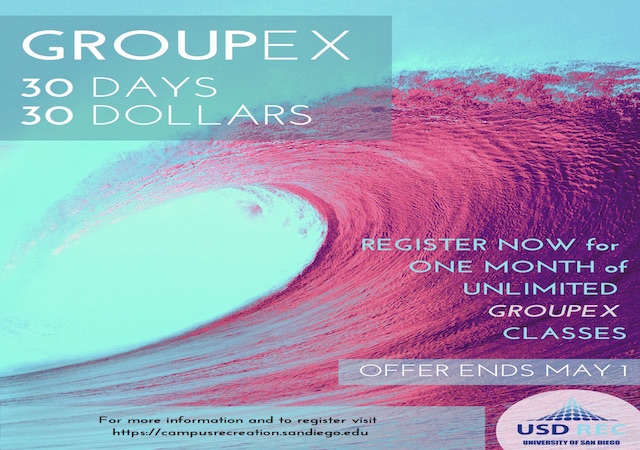 USD FIT GroupEx 30 Day Membership Flyer