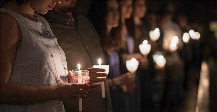 The semester-ending Candlelight Mass will take place at 9 p.m. on Sunday, May 21, in Founders Chapel.
