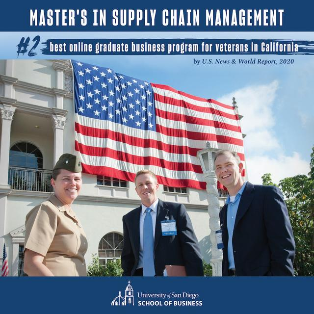 USD Master's in Supply Chain Management graduate students and veterans