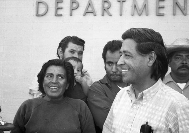 Cesar Chavez with Farmworkers