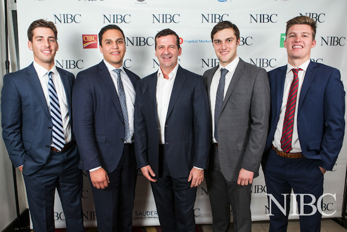 From left to right -- Sean Dedmond, Alex Hernandez, Darren Throop (CEO, Entertainment One), Peter Twomey, Barrett Thornton