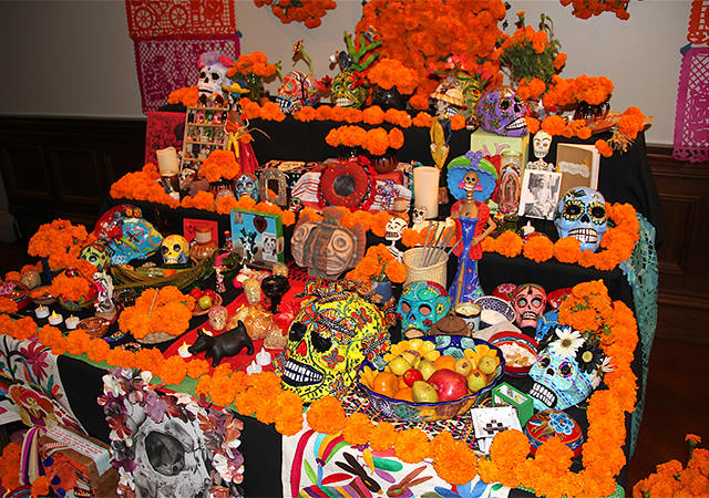 Day of the Dead altar and exhibit
