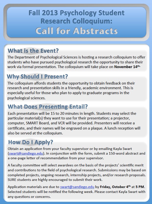 Call for Abstracts Information