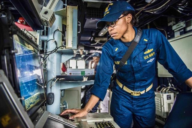 USD MBA student, Chelsea Olshenske, works onboard a U.S. Navy ship