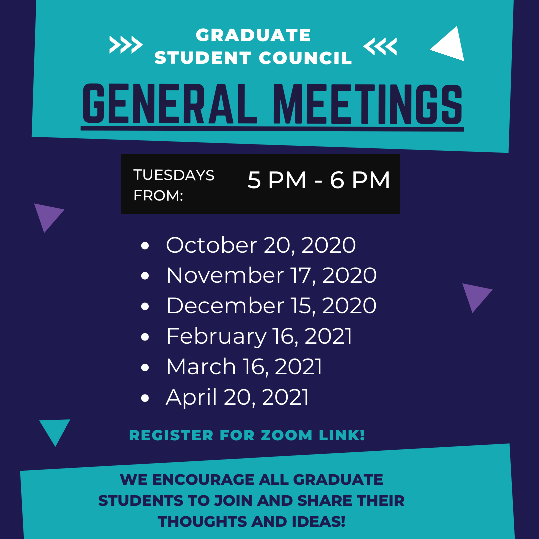 GSC General Meeting Dates