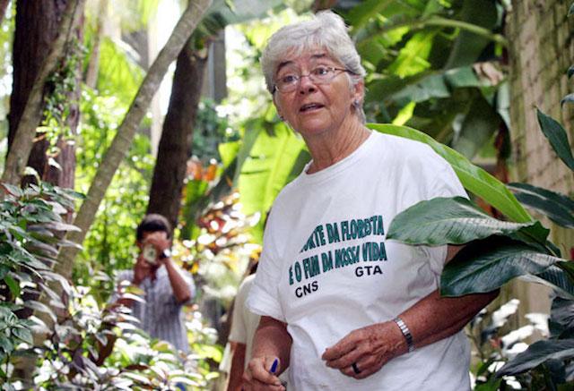 Sister Dorothy Stang in Amazon rainforest of Brazil