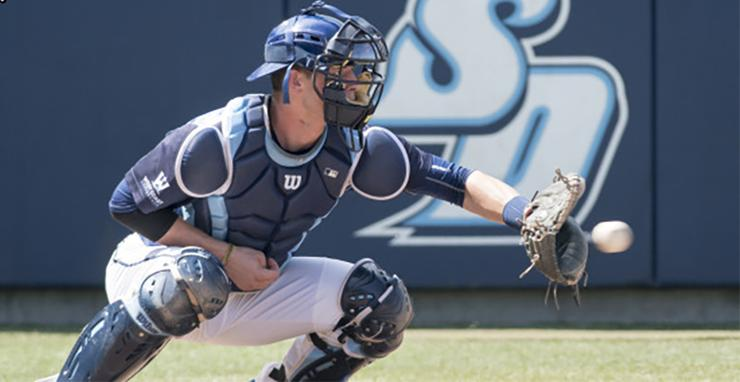 University of San Diego junior Riley Adams is expected to be among the top catchers eligible to be selected in the Major League Baseball First-Year Player Draft, taking place June 12-14.