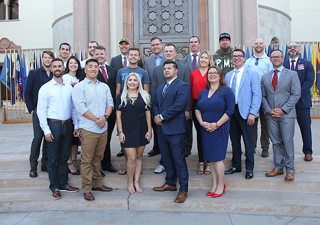 USD current and alumni for Veterans Day 2019 celebration