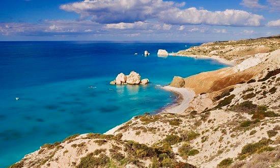 The scenic coast of Cyprus