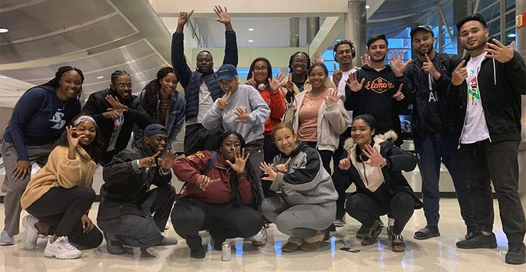 Members of the USD National Society of Black Engineers chapter recently attended the NSBE national convention in Detroit for professional development opportunities as well as visiting with USD alumni.