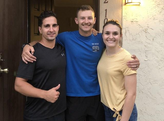 Photo is of Mitch Di Lorenzo, Gage Murphy and Alex Murphy