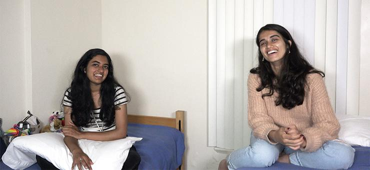 India's Shivranjani Gandhi and Pakistan's Fizza Zaheer are rooming together during July's Hansen Summer Institute at USD. The program promotes international cooperation among its participants.
