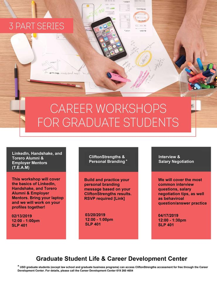 Flyer for Career Workshop