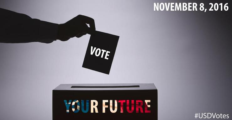 Students in a Political Communications class developed a campaign to encourage the campus community to register and to be sure to vote on November 8.