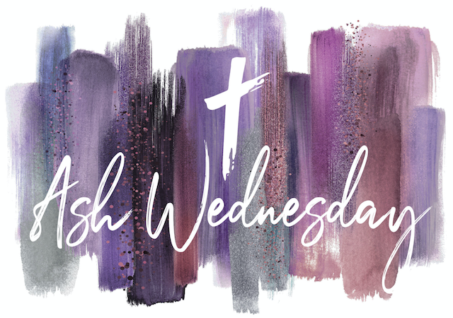 Ash Wednesday graphic with cross