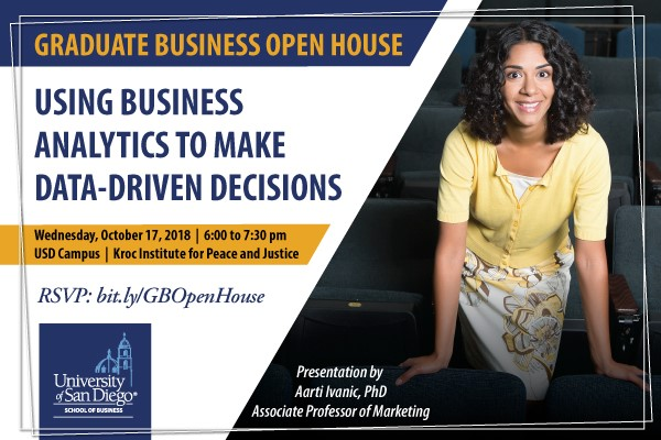 Graduate Business Fall Open House, Oct 17 at 6 pm
