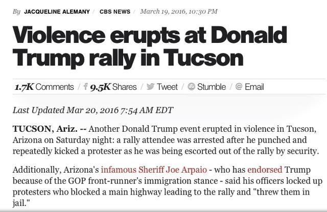 Violence at Rallies