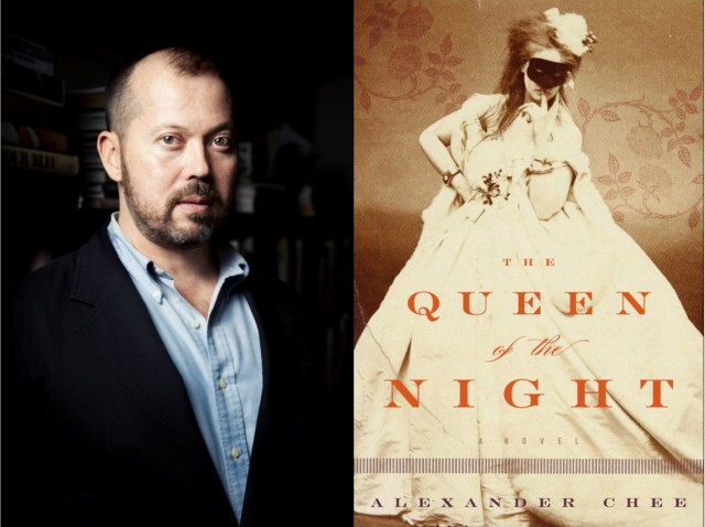 Alexander Chee portrait and bookcover of THE QUEEN OF THE NIGHT