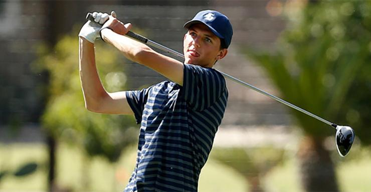 Dalton Hankamer and his USD men's golf teammates will compete in the West Coast Conference Championships, which run today through Wednesday at Carlton Oaks Golf Club in Santee, Calif.